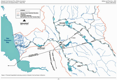Alameda Creek map
